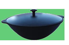 Сковорода Вок 4л с алюминиевой крышкой